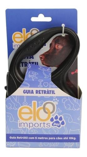 Guia Retrátil para cachorro e gato 5m Até 10kg