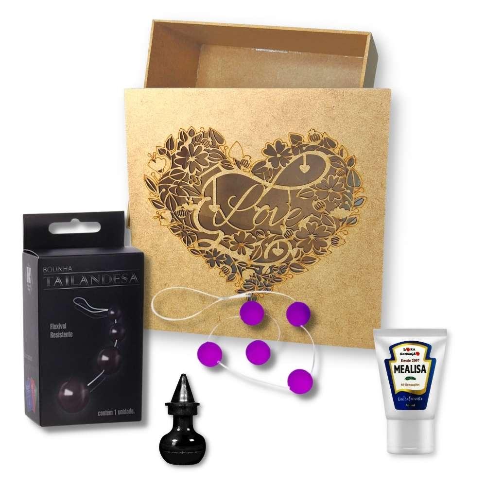 Kit Caixa Magica Bolinha Tailandesa/Lubrificante/Pó Da Bruxa