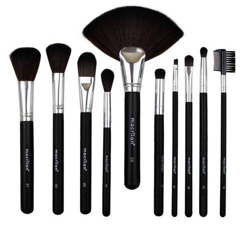 Kit De 10 Pincéis Para Maquiagem Macrilan