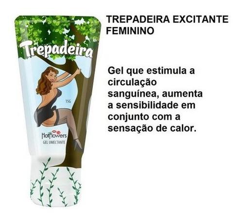 Kit Gel Lubrificante Hotflowers Trepadeira + Volumão