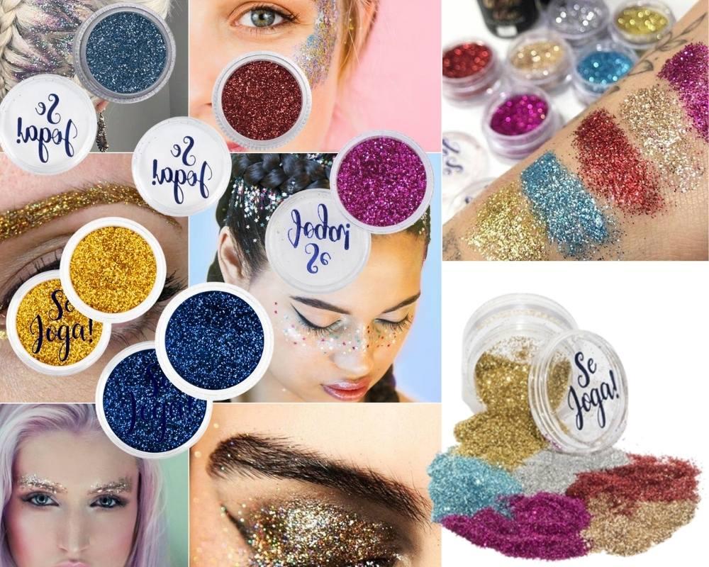 Kit 5 Sombra Glitter Asa De Borboleta Se Joga Face Beautiful