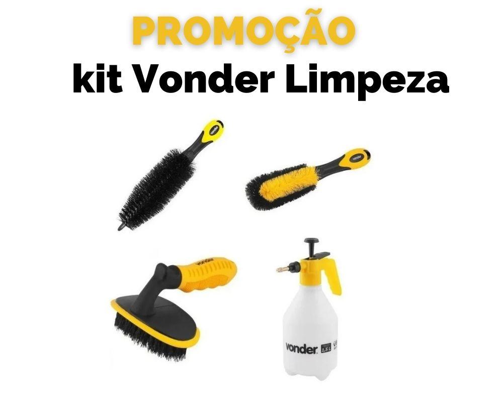 Kit Vonder Limpeza Roda Pneu Escovas E Pulverizador PROMOÇÃO