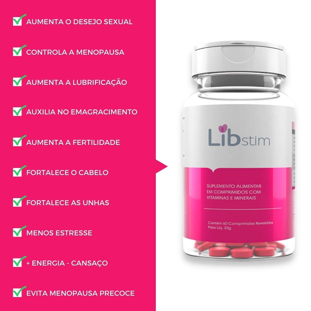 Libido Stim - Aumenta O Libido Feminino Vitamina Suplemento
