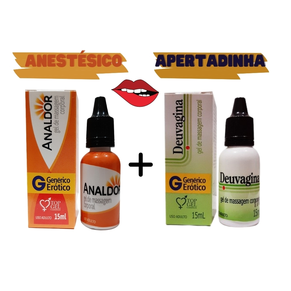 Lubrificante Analdor Anestésico E Deuvagina Apertadinha 15ml