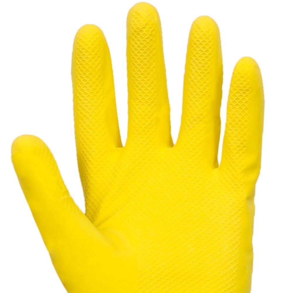 Luva Latex Amarela Com Forro Vonder