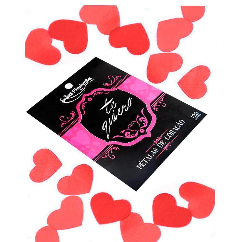 Pétalas Aromáticas Formato Coração Vermelho 120 Unidades
