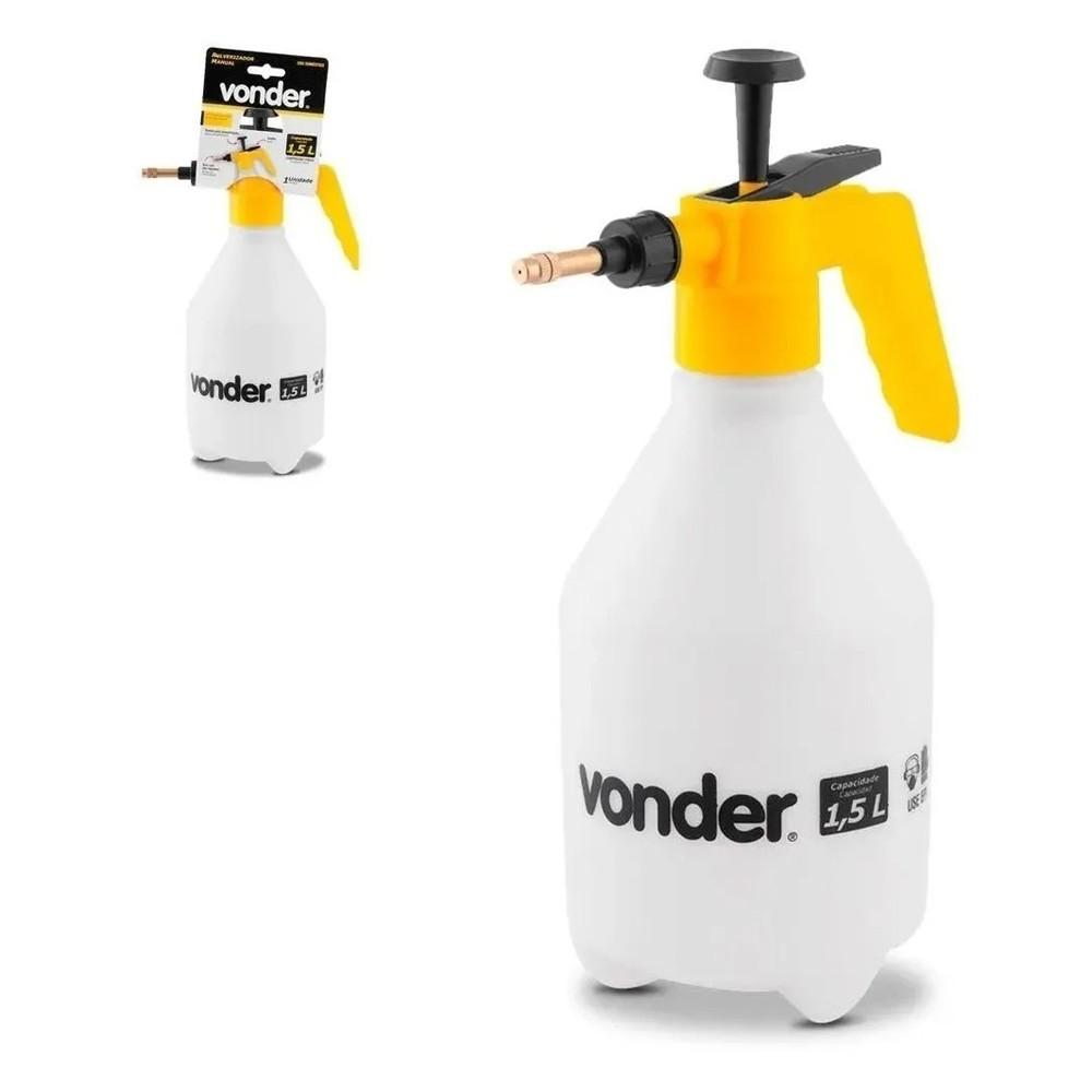 Pulverizador Borrifador Pressão Prévia 1,5l Limpeza Vonder
