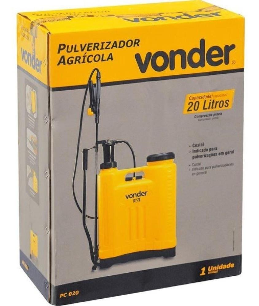 Pulverizador Costal Agrícola 20 Litros Manual Pc020 Vonder