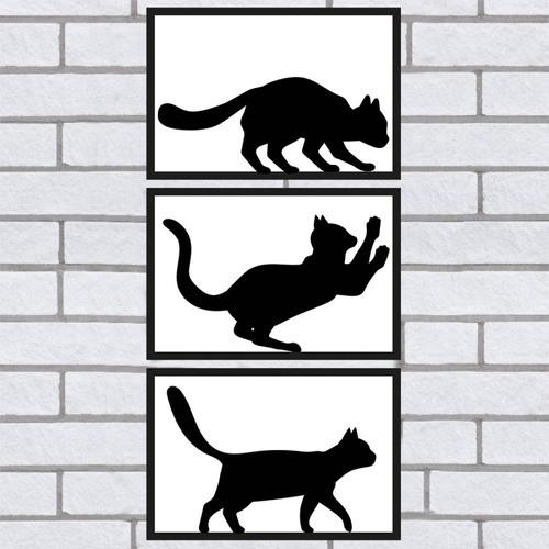 Quadros Decorativos 3 Gatos