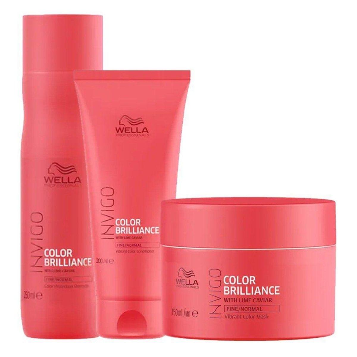Wella Invigo Color Brilliance Sh 250ml+cd 200ml+mascara 150m