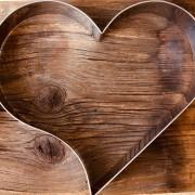Aro cortador formato coração de Inox  28cm x 5cm  - Cód. 0565