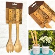 Dupla de utensílios de bamboo natural Tramontina - Cód. 10239318