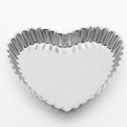 Forma de alumínio crespa formato de coração 20cm x 20cm x 3cm - Cód  2650