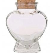 Pote de vidro formato coração com rolha 80ML - Cód 4301