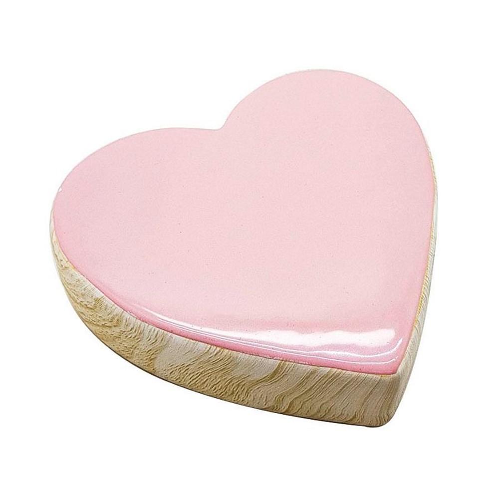 Coração de porcelana rosa vintage de porcelana - Cód. 43995