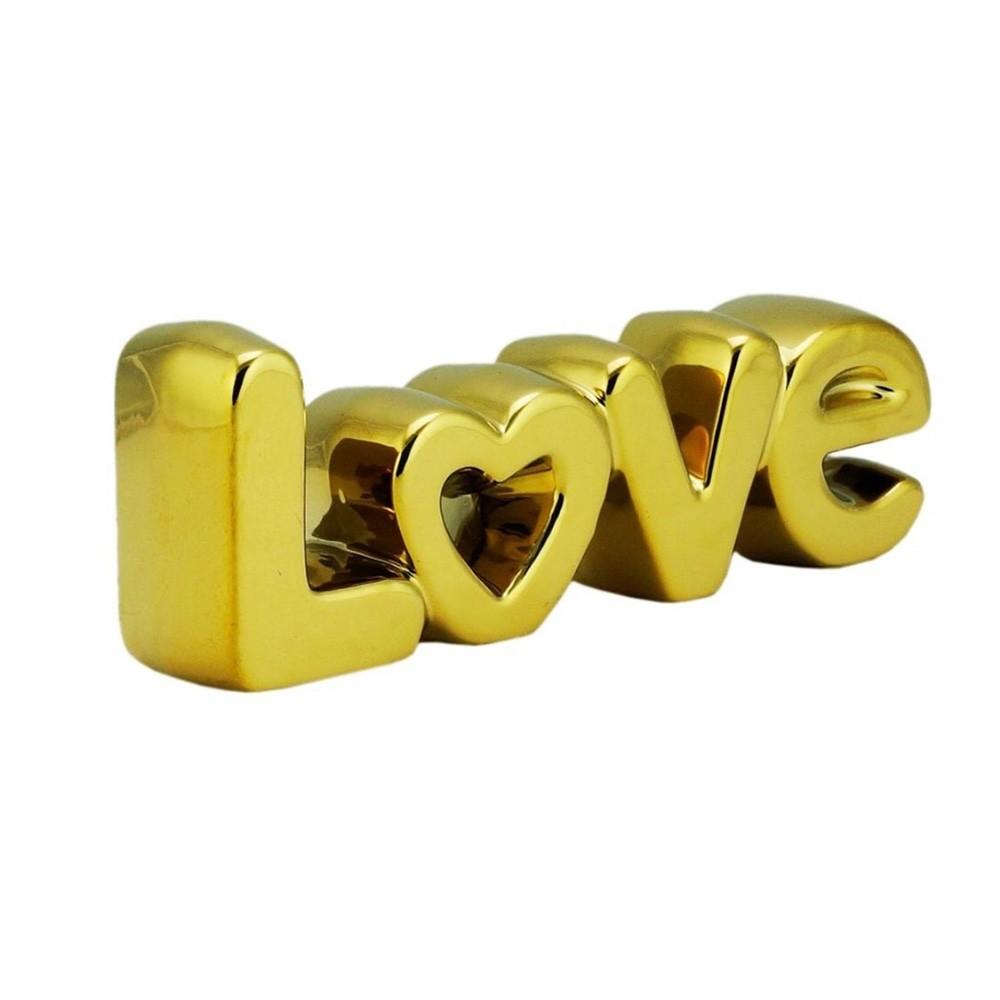 Love letras decorativas dourado - Cód 44494