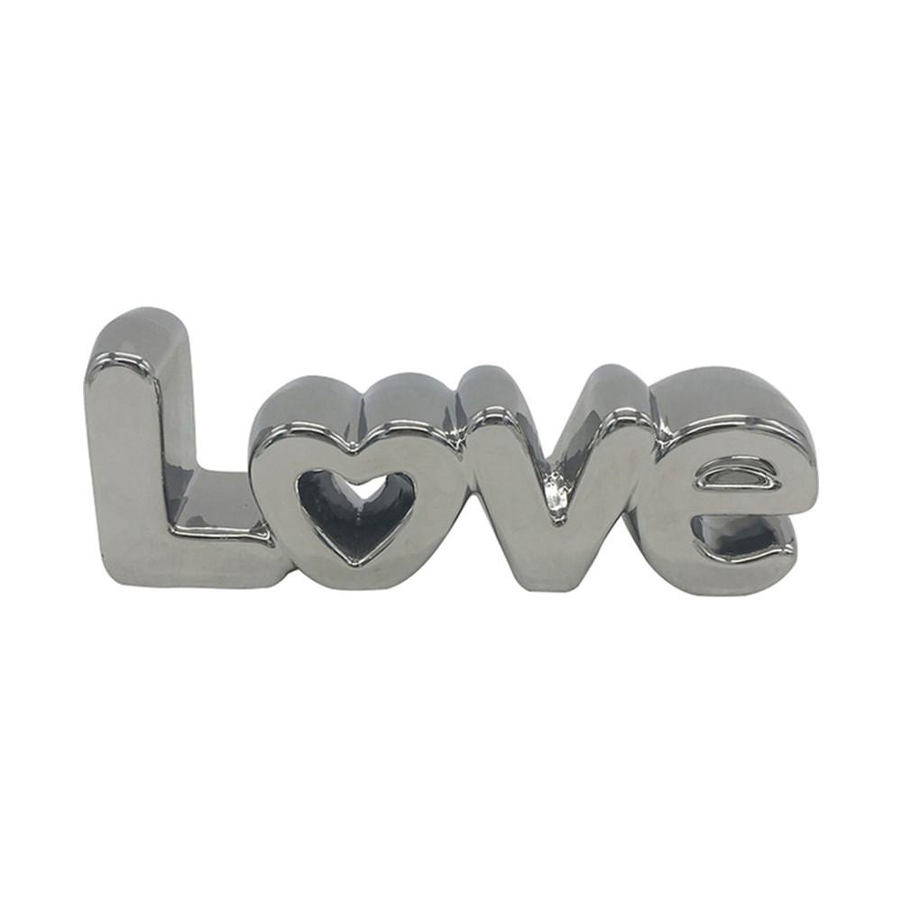 Love letras decorativas prata - Cód 44493