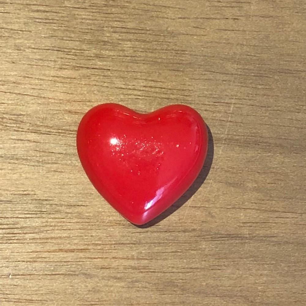 Mini coração de porcelana decorativo vermelho - Cód. 43778
