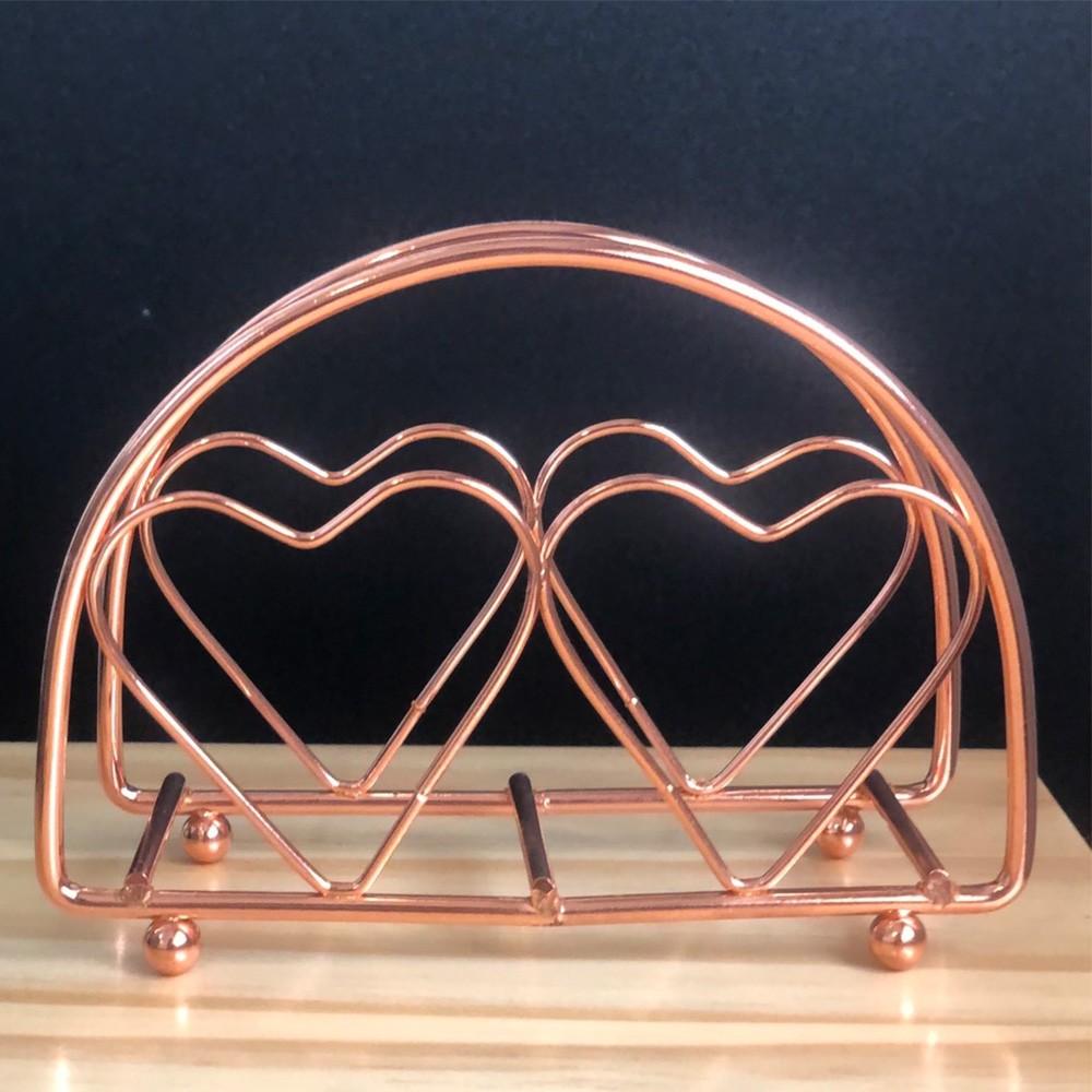 Porta guardanapos de ferro cromado rose - Cód 6907