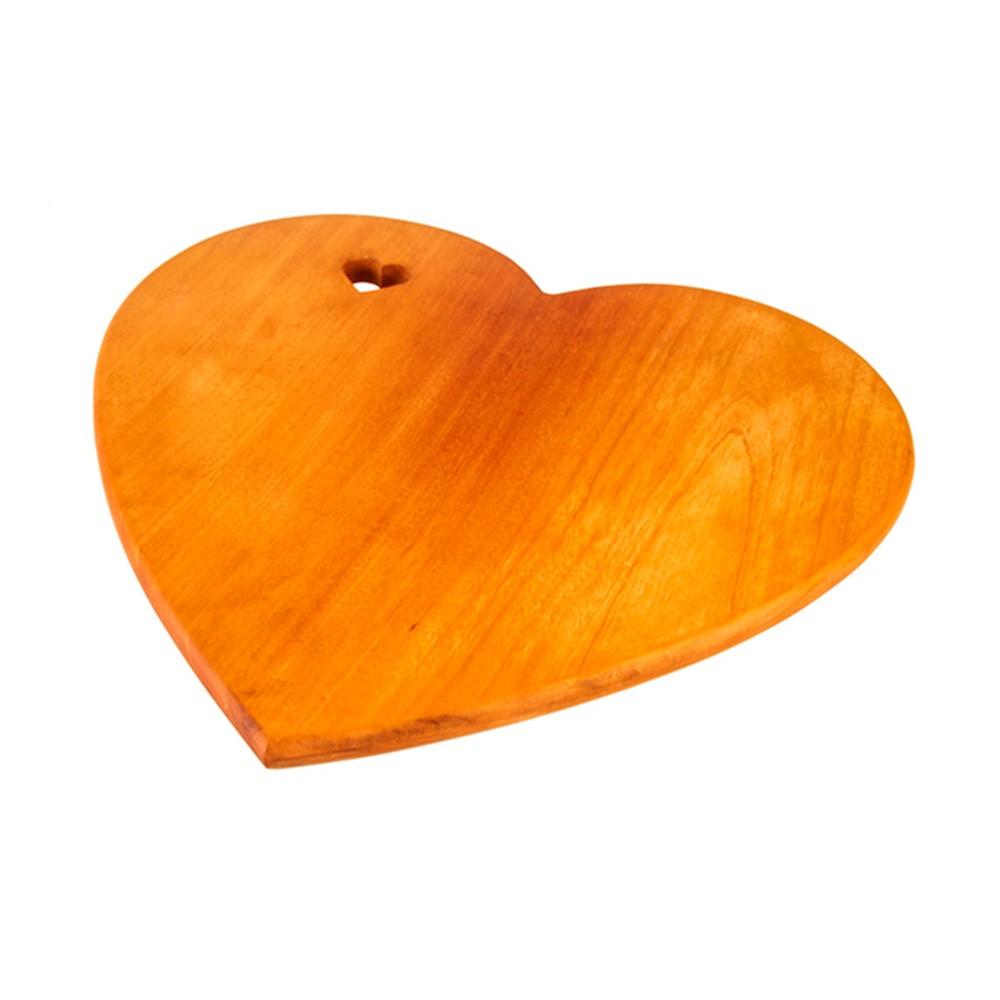 Tábua de madeira formato coração 50cm x 45cm - Cód. 007