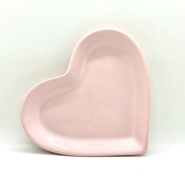 Travessa petisco M formato coração rosa bebê - Cód.ER154RB