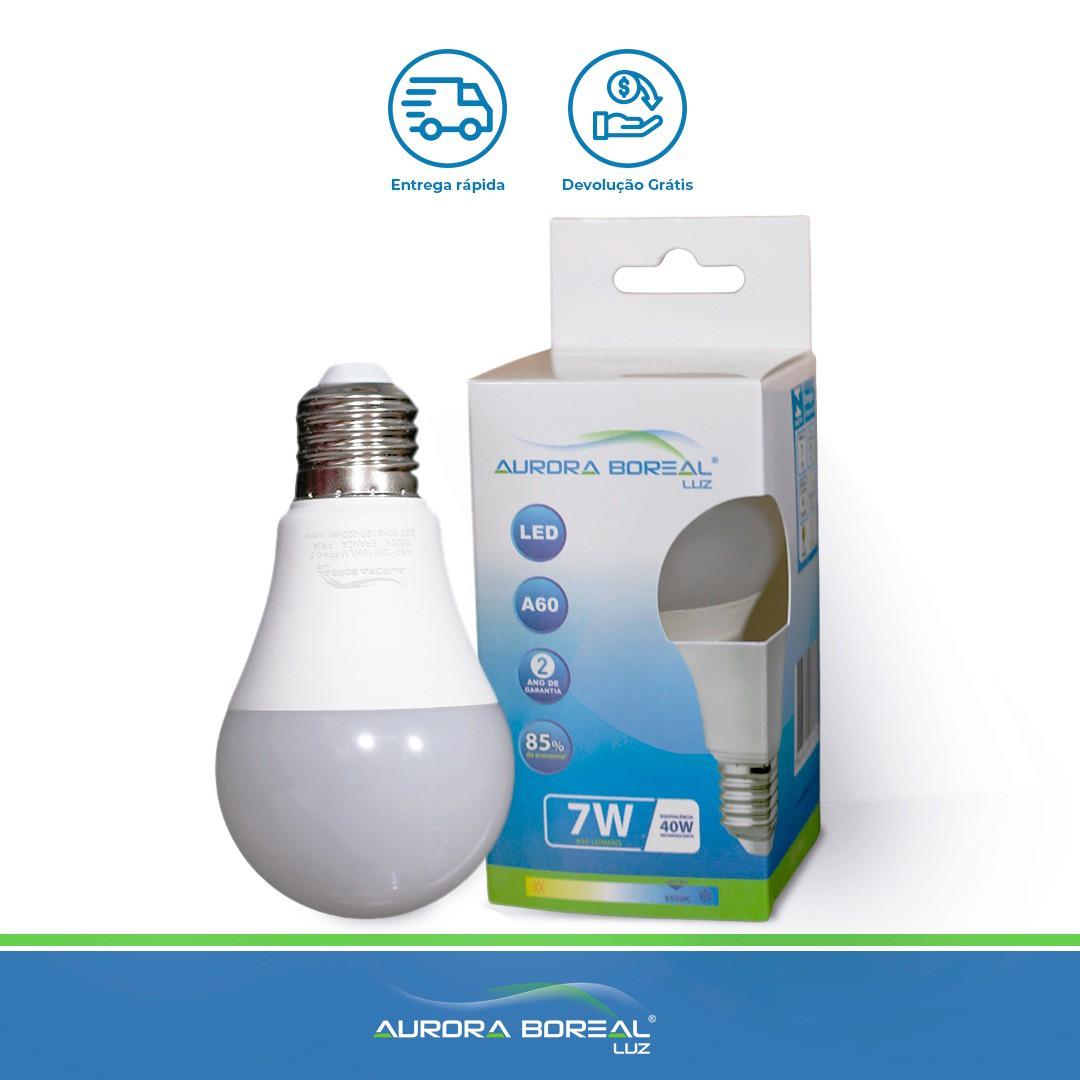 LAMPADA LED A60 7W 6500K (Branco Frio)