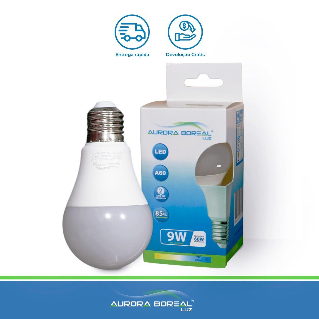 LAMPADA LED A60 9W 6500K (Branco Frio)