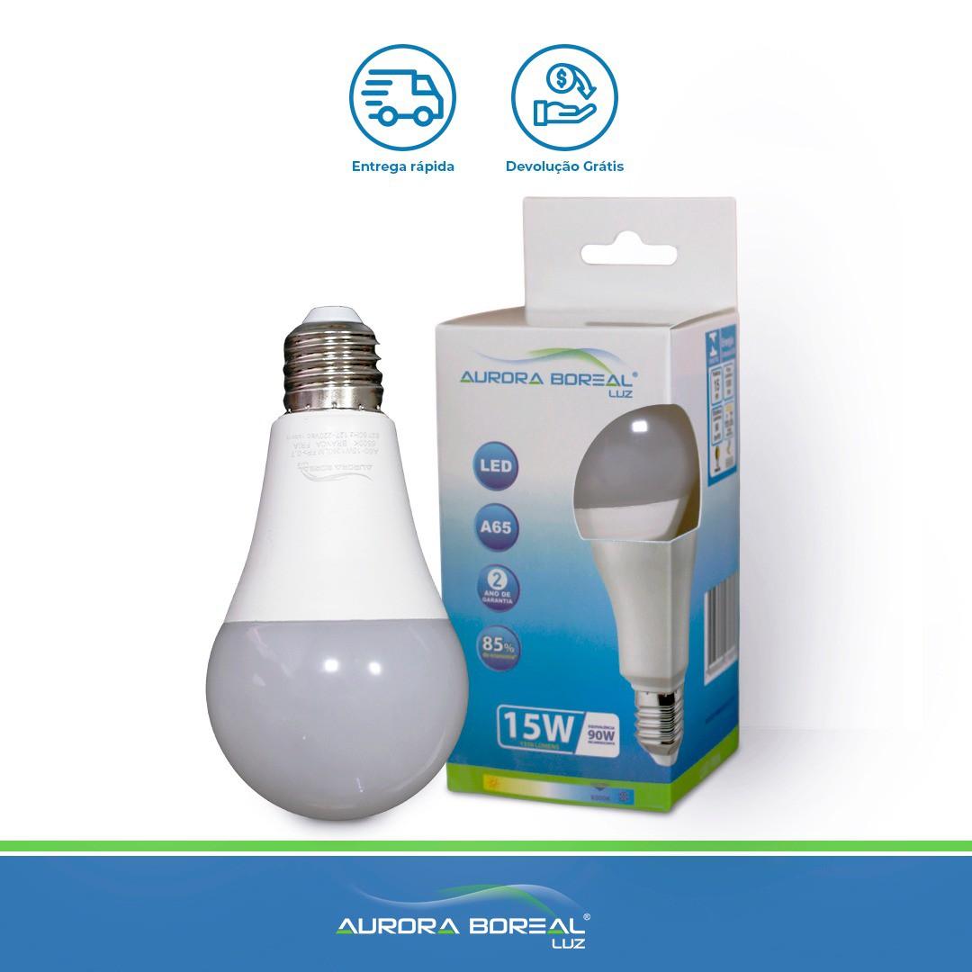 LAMPADA LED A65 15W 6500K (Branco Frio)