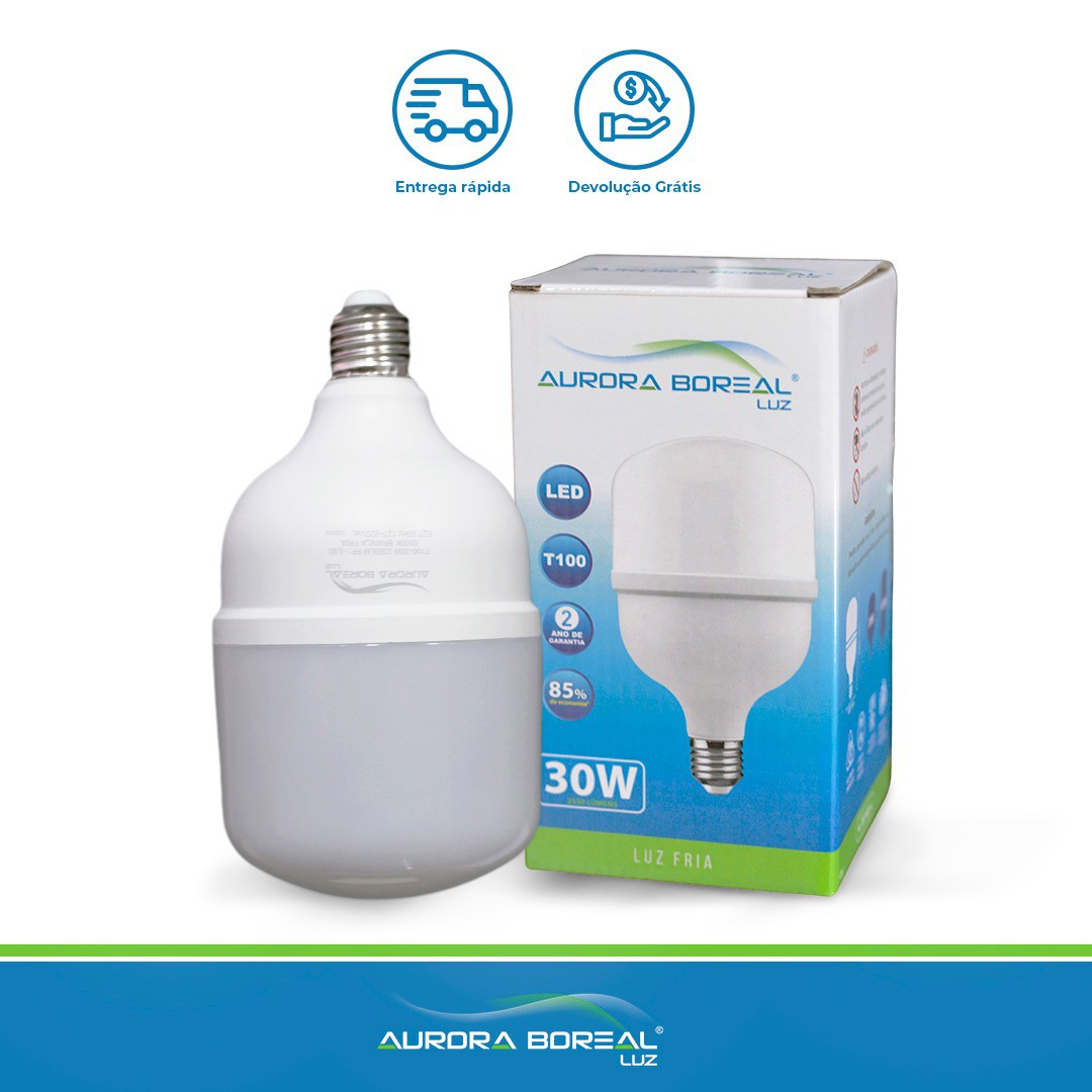 LAMPADA LED T100 30W 6500K (Branco Frio)