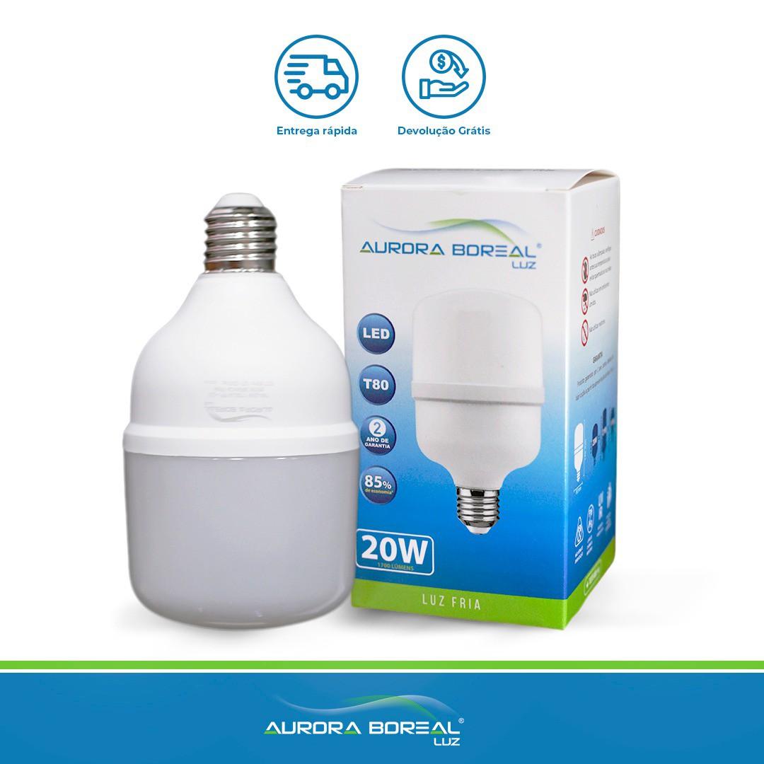 LAMPADA LED T80 20W 6500K (Branco Frio)