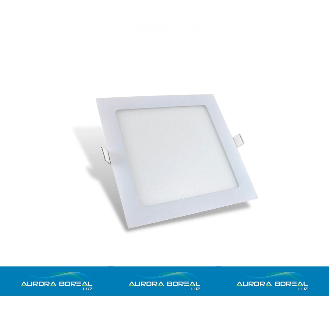 PAINEL LED QUADRADO EMBUTIR 12W-6500K (Branco Frio)