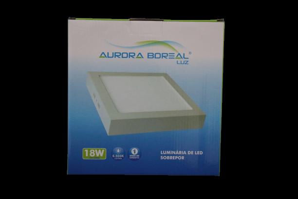 PAINEL LED SOBREPOR 18W 6500K- AURORA