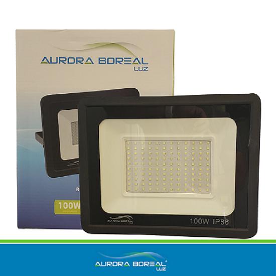 REFLETOR LED 100W - 6500K - Aurora Boreal Luz