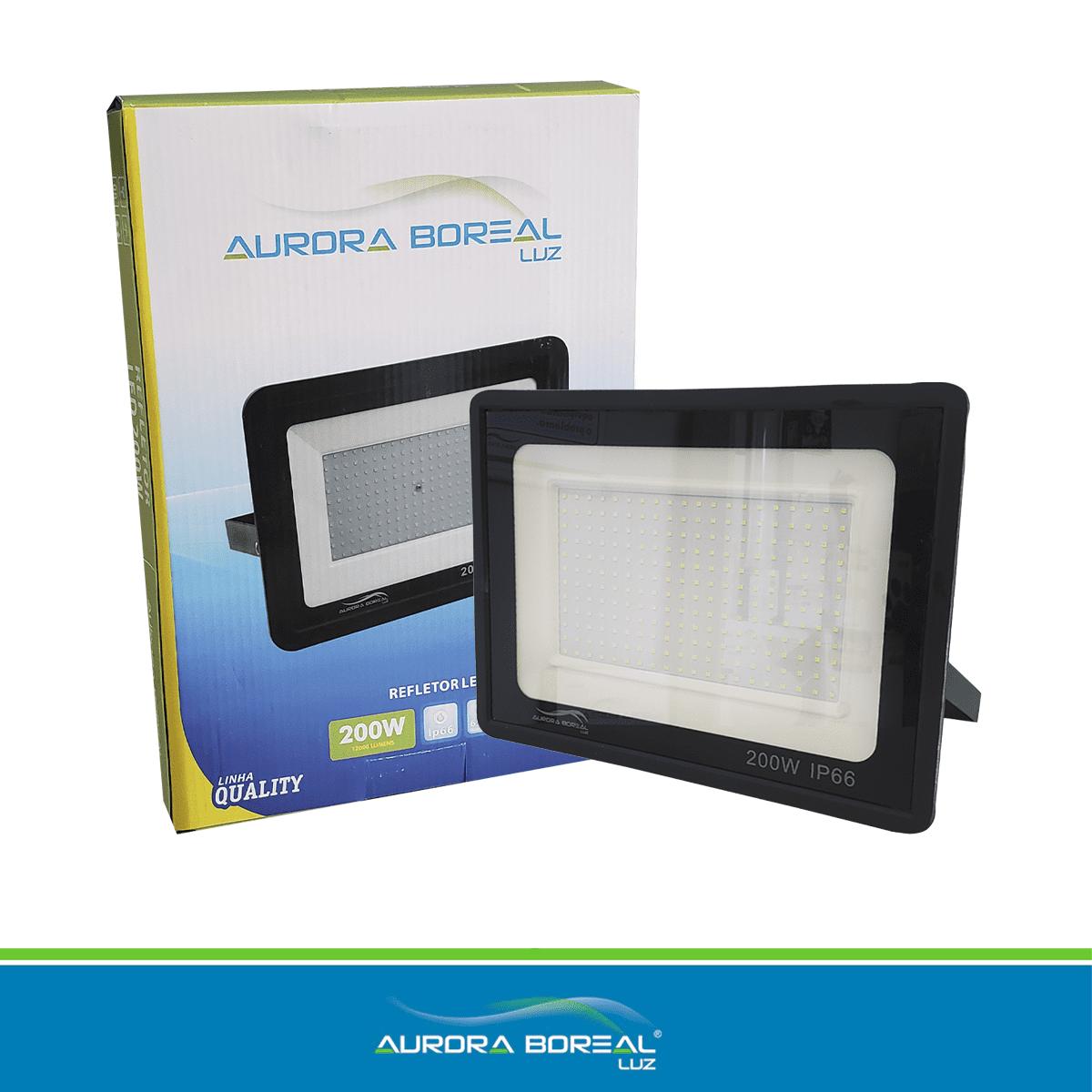 REFLETOR LED QUALITY 200W - 6500K (Branco Frio)