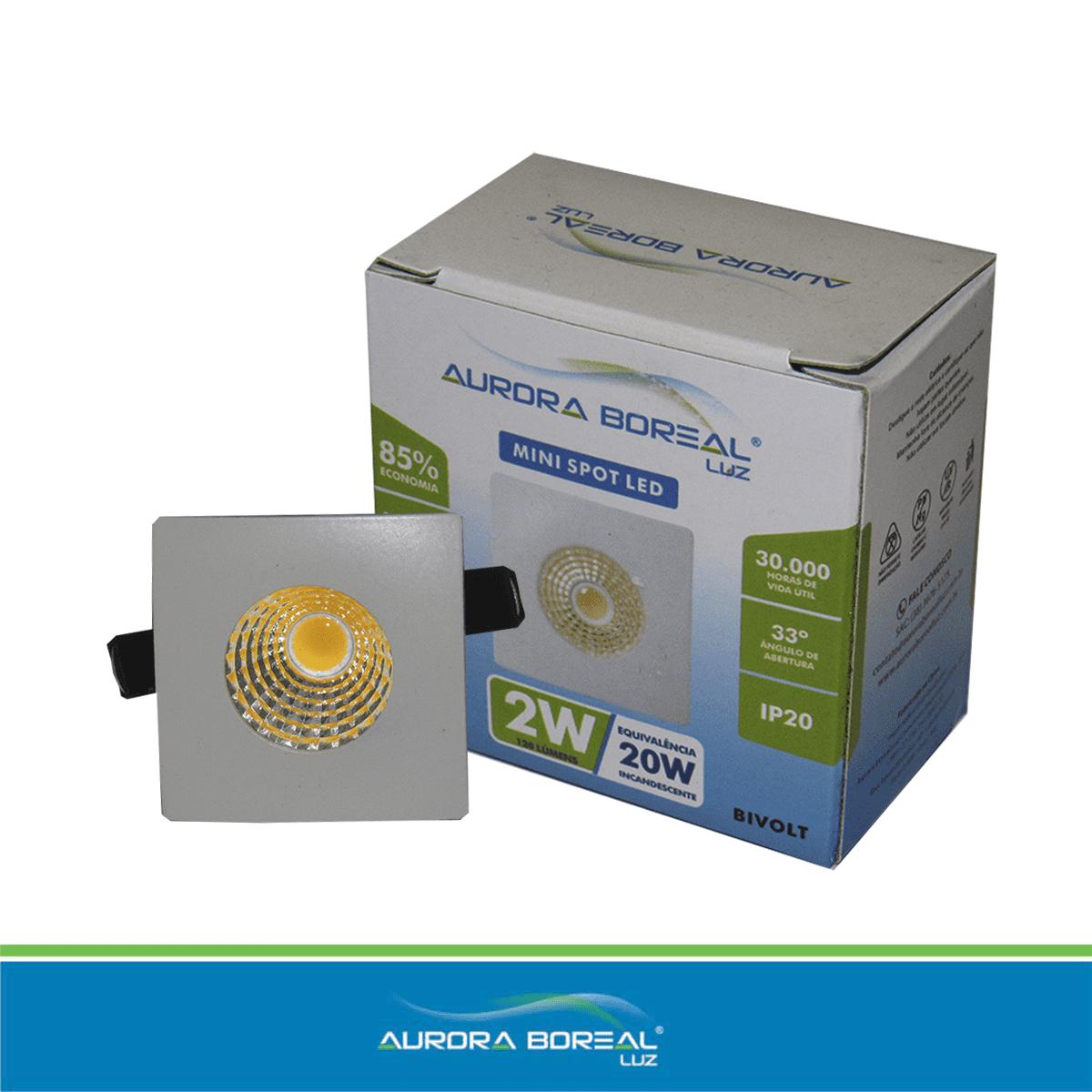 SPOT LED-MINI LASER 2W - 6500K (Branco Frio)