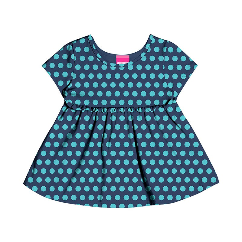 Bata Infantil Menina Poa Azul