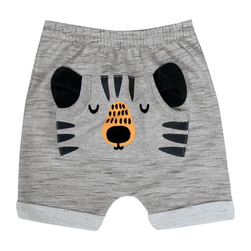 Bermuda  Bebê Menino Tiger Cinza