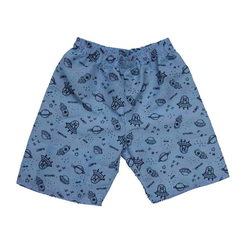 Bermuda Infantil Menino Azul