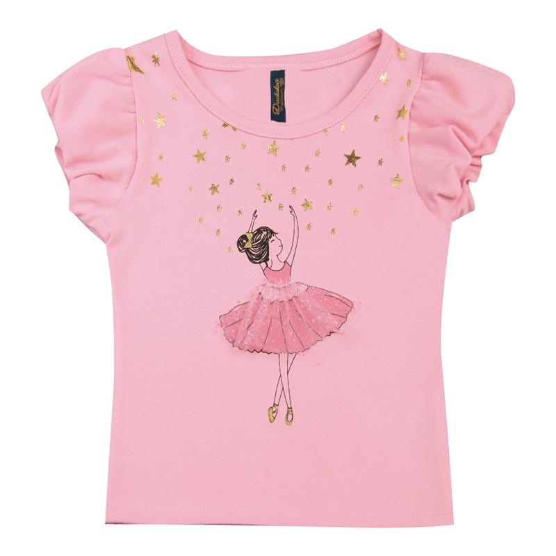 Blusa Duduka Bebê Menina Bailarina Rosa