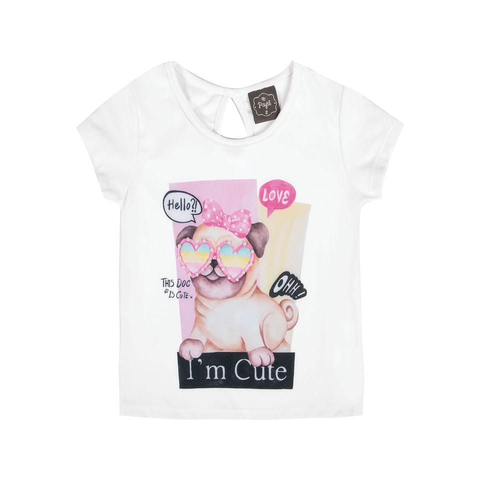 Blusa Bebê Menina Cute  Branco
