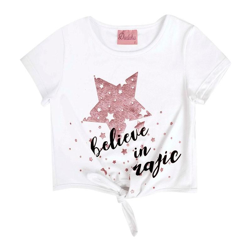 Blusa Bebê Menina Estrela Branco