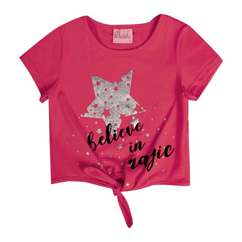 Blusa Bebê Menina Estrela Rosa