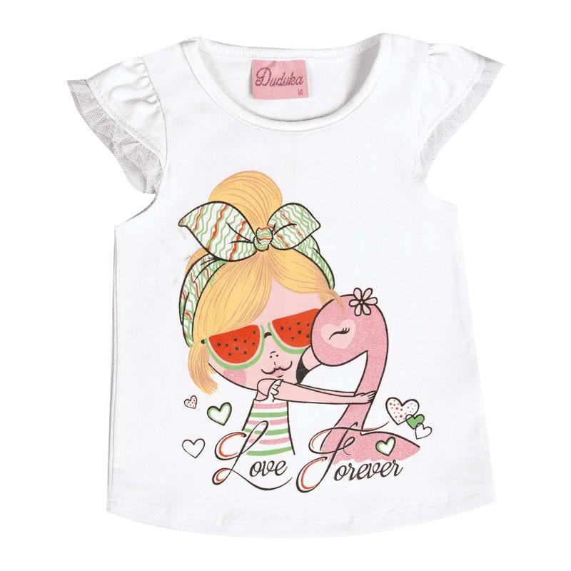 Blusa Bebê Menina Love Forever Branco
