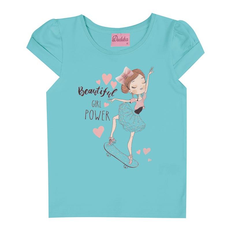 Blusa Duduka Infantil Menina Bailarina Azul