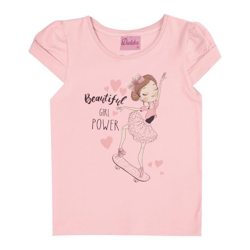 Blusa Duduka Infantil Menina Bailarina Rosa