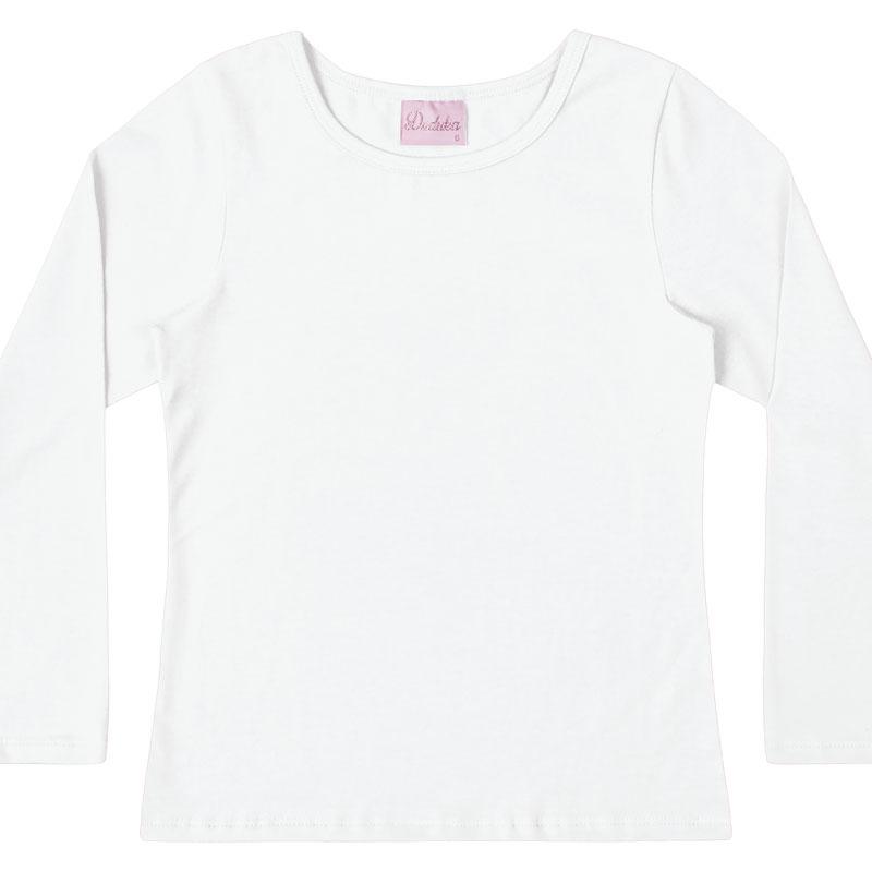 Blusa Duduka Infantil Menina Básica Branco