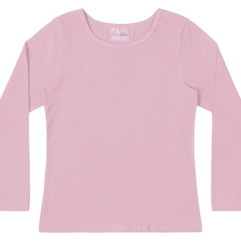 Blusa Duduka Infantil Menina Básica Rosa
