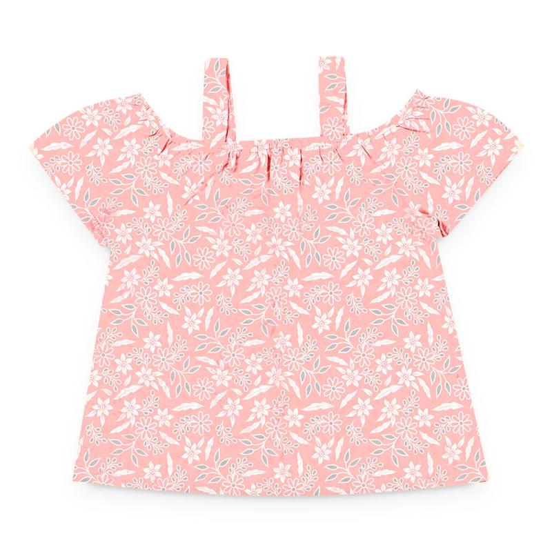 Blusa Duduka Infantil Menina Flores Rosa