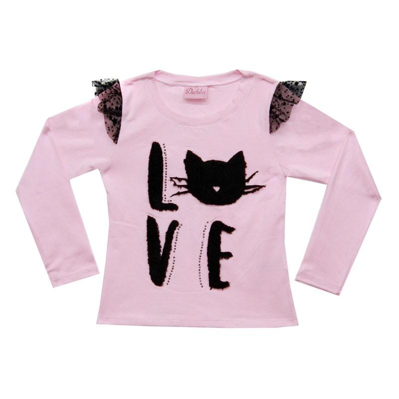 Blusa Infantil Feminina Love Cat - Duduka