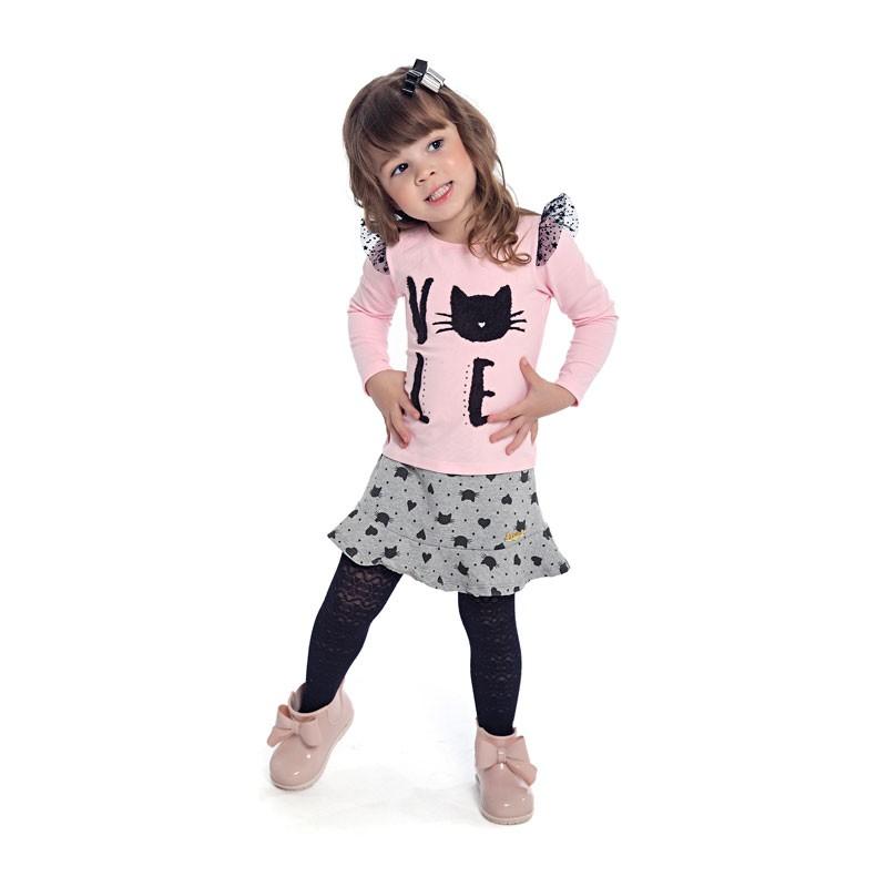 Blusa Duduka Infantil Menina Love Rosa